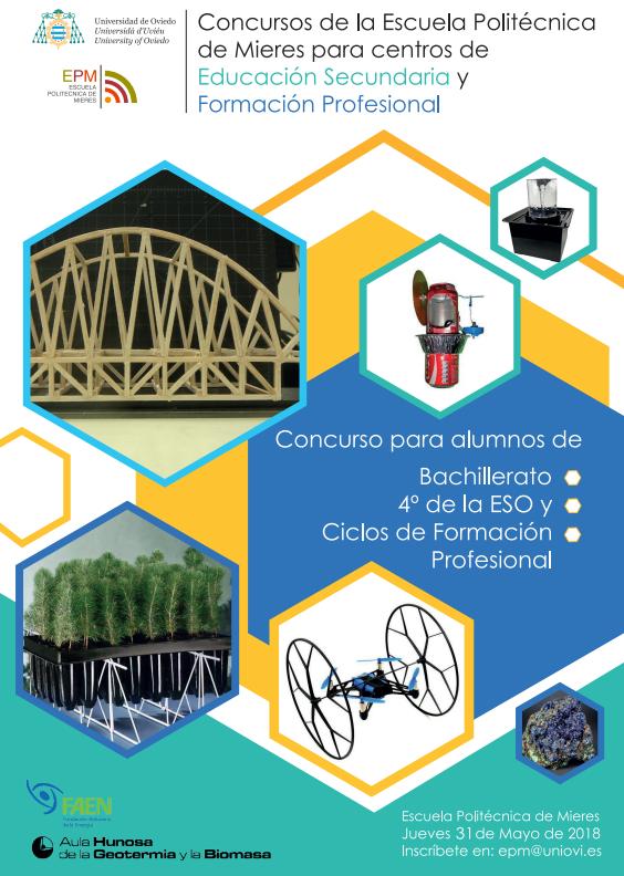 Concursos de la Escuela Politécnica de Mieres para IES y FP 2018
